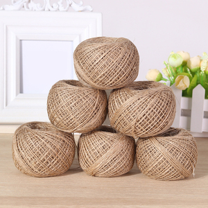Image 2 - Cuerda de cáñamo Natural para colgar etiquetas, cuerda tejida para decoración del hogar, cordel de yute, cordón de jardinería, manualidad para regalo, 100m por rollo