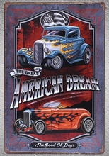 1pc American Muscle car tuned garage hotrod Customized Tin Plate Sign wall plaques man cave Decoration Dropshipping metal Poster