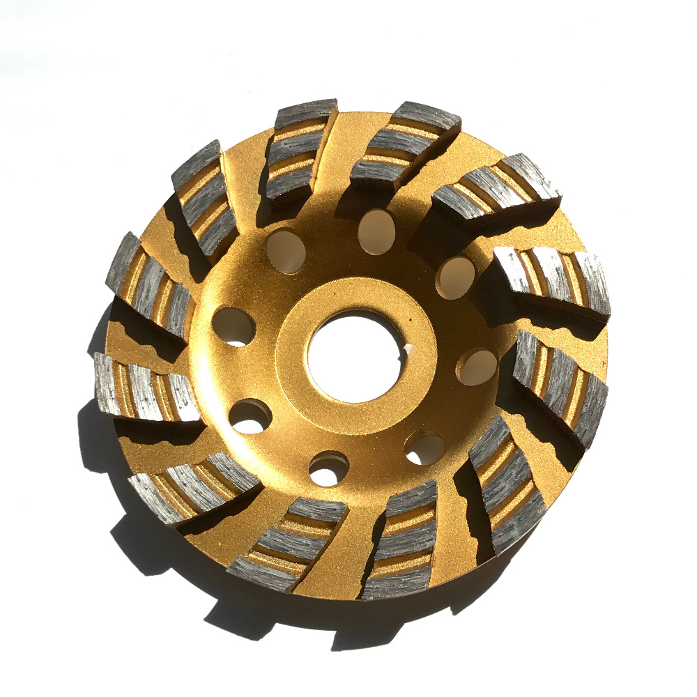Free shipping of 1pc strengthened turbo segment 100*20*5mm grinding cup wheel for grinding marble/granite/<font><b>ceramic</b></font>/concrete