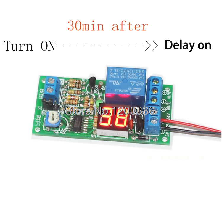 Delay On Switch Timer Relay Dc 12v Delay Timer Control
