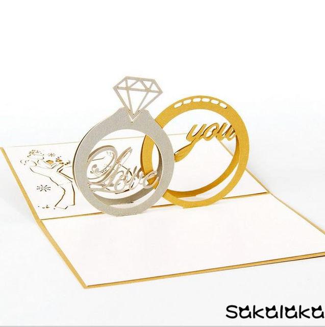 Online Shop Creative 3d Handmade Paper Cut Romantic Marry Me Propose