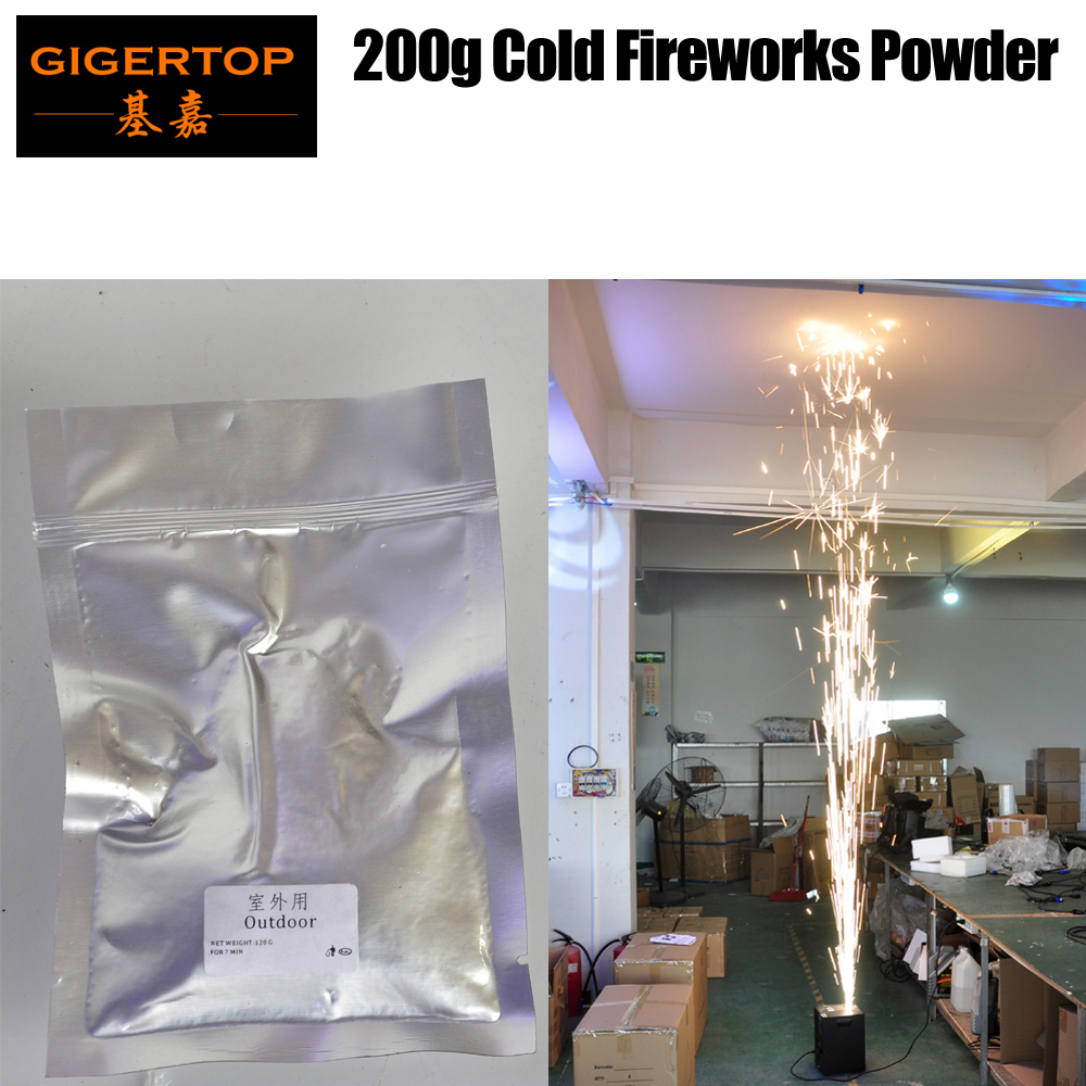 Gigertop Cold Firemachine Jet Material Gray Color 200g bag EMS Freeshipping Stage Effect Machine Using Cold