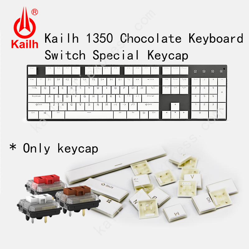 Kailh 104 Low Profile Keycaps 1350 Chocolate Gaming Keyboard Mechanical Switch ABS Keycaps RGB Backlit Keyboard Computer
