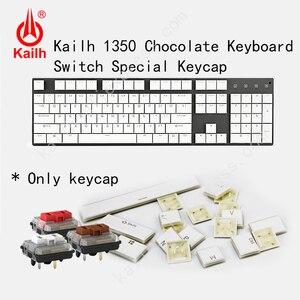 Image 1 - Kailh 104 Niedrigen Profil Tastenkappen 1350 Schokolade Gaming Tastatur Mechanische schalter ABS Tastenkappen kailh choc tastenkappen