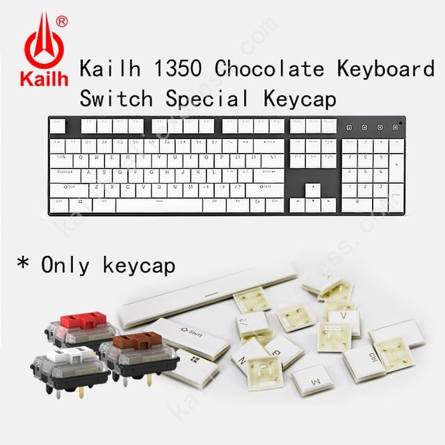 Kailh 104 Niedrigen Profil Tastenkappen 1350 Schokolade Gaming Tastatur Mechanische schalter ABS Tastenkappen kailh choc tastenkappen