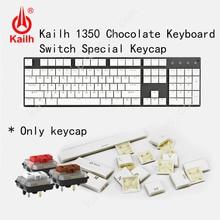 Kailh 104 düşük profilli Keycaps 1350 çikolata oyun klavyesi mekanik anahtarı ABS Keycaps kailh choc keycaps