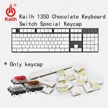 Kailh teclas de perfil bajo 104, teclado para juegos de Chocolate, ABS interruptor mecánico, teclas kailh, 1350