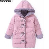 Kids Girl Jacket Winter Long Girls Winter Parkas 4 6 8 10 12Years Slim Kids Girls Winter Coat OutWear