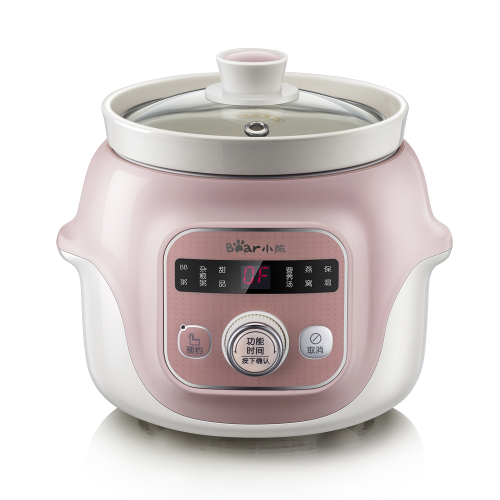 22%,1L pink mini Ceramic Whiteware electric Slow Cookers baby Porridge Cooking Soup Stewing pot 6 functions 100W Easy to clean22%,1L pink mini Ceramic Whiteware electric Slow Cookers baby Porridge Cooking Soup Stewing pot 6 functions 100W Easy to clean