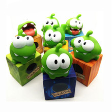 7pcs kawaii Vinyl Glue Rubber Cartoon Doll Phone Game Cut The Rope Frogs OM NOM Candy Gulping Monster Bath Toy Figure ледянка 1 toy cut the rope