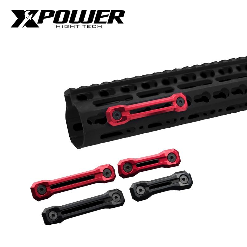 XPOWER Rail System Decoration Keymod M-Lok For Airsoft AEG Accessories CNC Paintball Air Gun Accessories