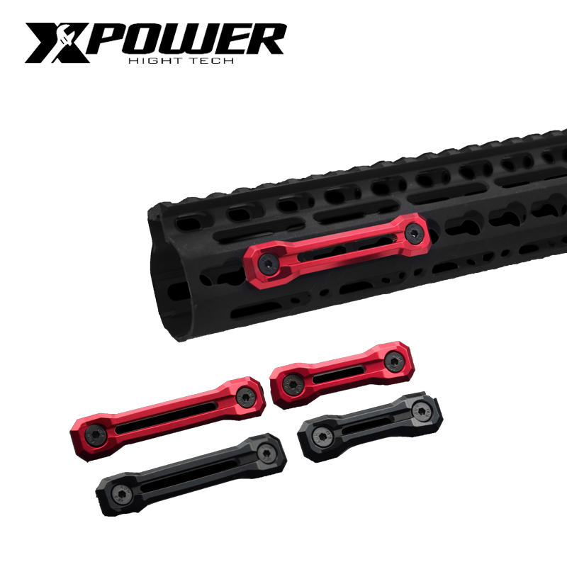XPOWER Rail System Decoration Keymod M-Lok For Airsoft AEG Accessories CNC