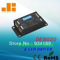 Free Shippin DMX LED Decoder LED Driver LED RGB Controller Constant Voltage DC12 24V Model DE8020