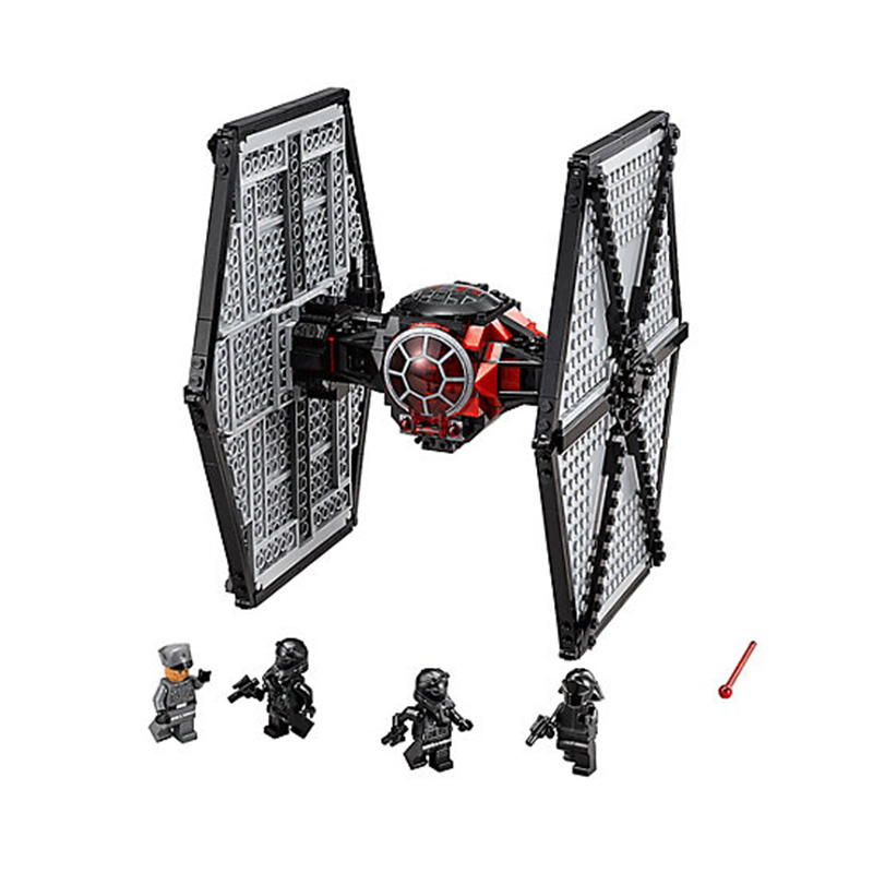 Star Wars First Order Special Forces TIE fighter Compatible LEGOs 75101 Lepin StarWars Model Building Blocks Toys For Children