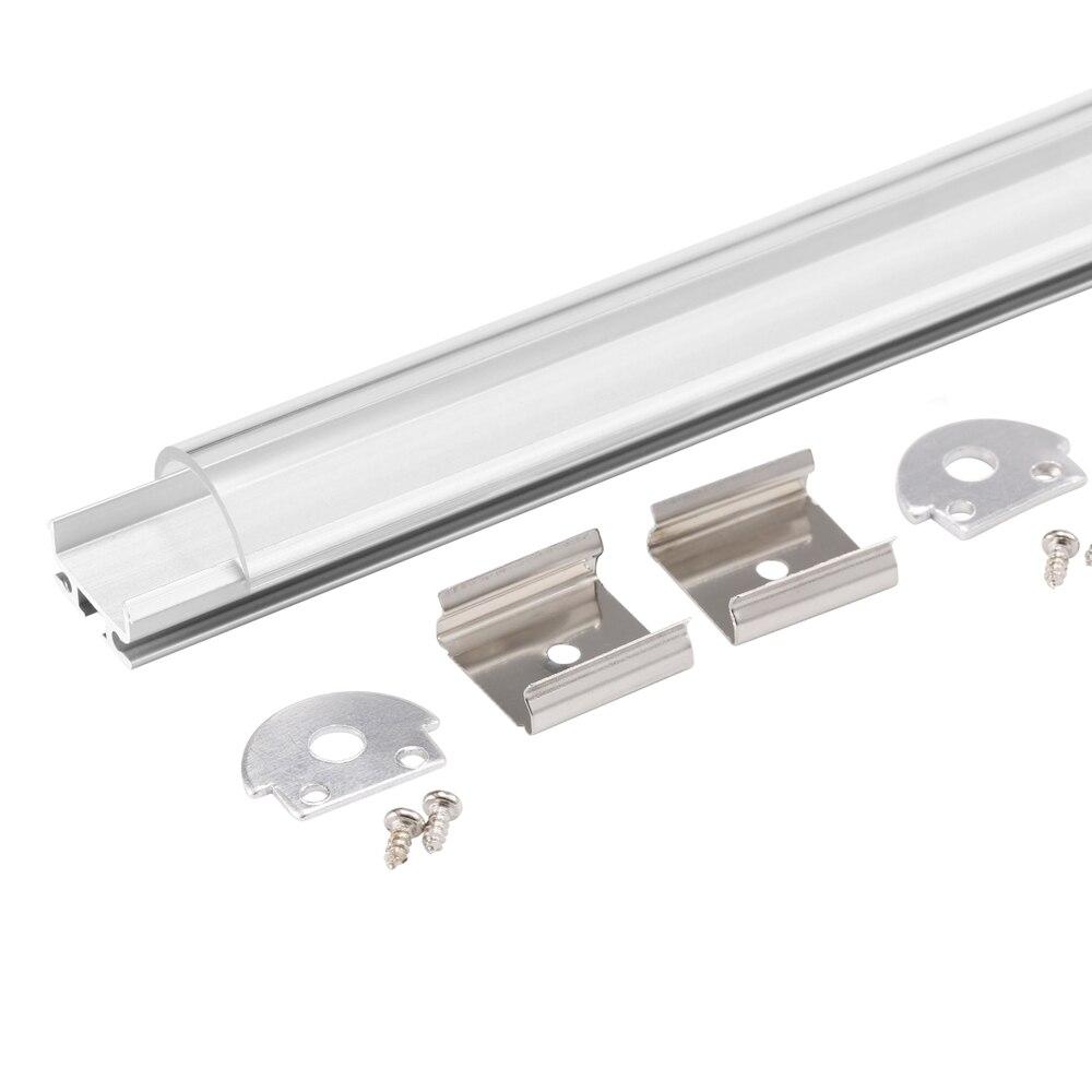 20 м (10 шт.) много, 2 м за штуку, алюминий профиль для светодиодных знак полосы света с молочно крышка диффузный ...