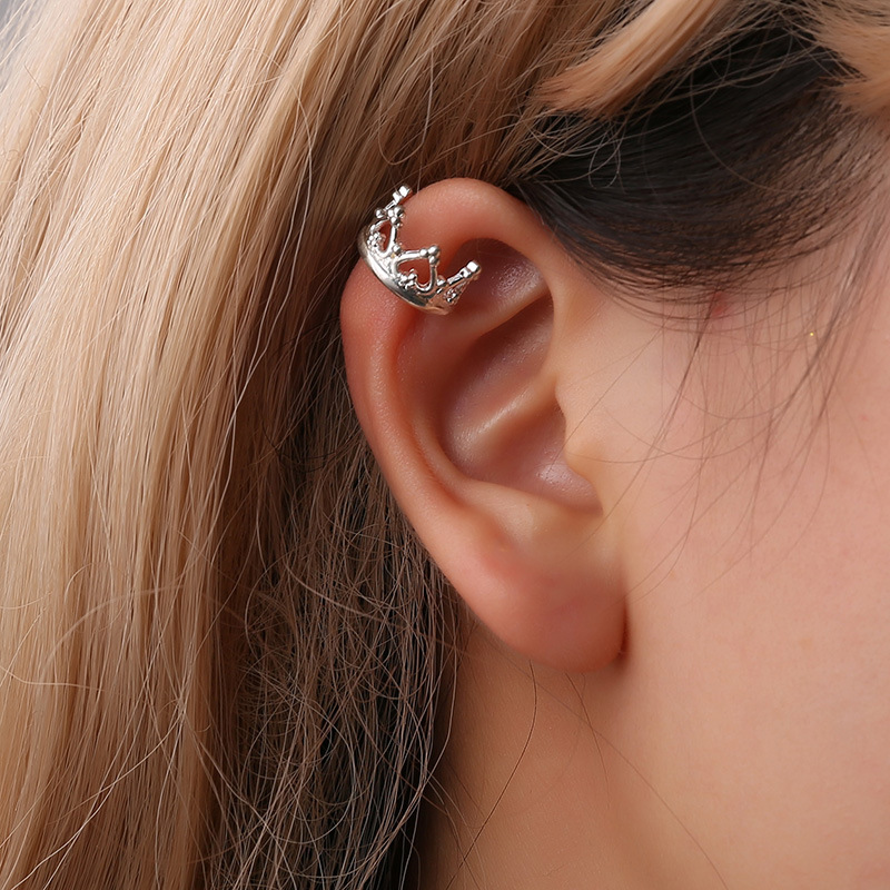 Hot Sale Crown U Shaped Ear Clips Without Pierced Ladies Earrings Painless Clip On Earrings Without Holes Earrings Female 2019