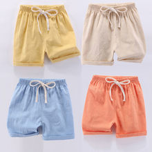 2019 Summer Baby clothes school pants for girls boys Kid Boy Girl Linen Casual Long Elastic Waist Pants Clothes for children(China)