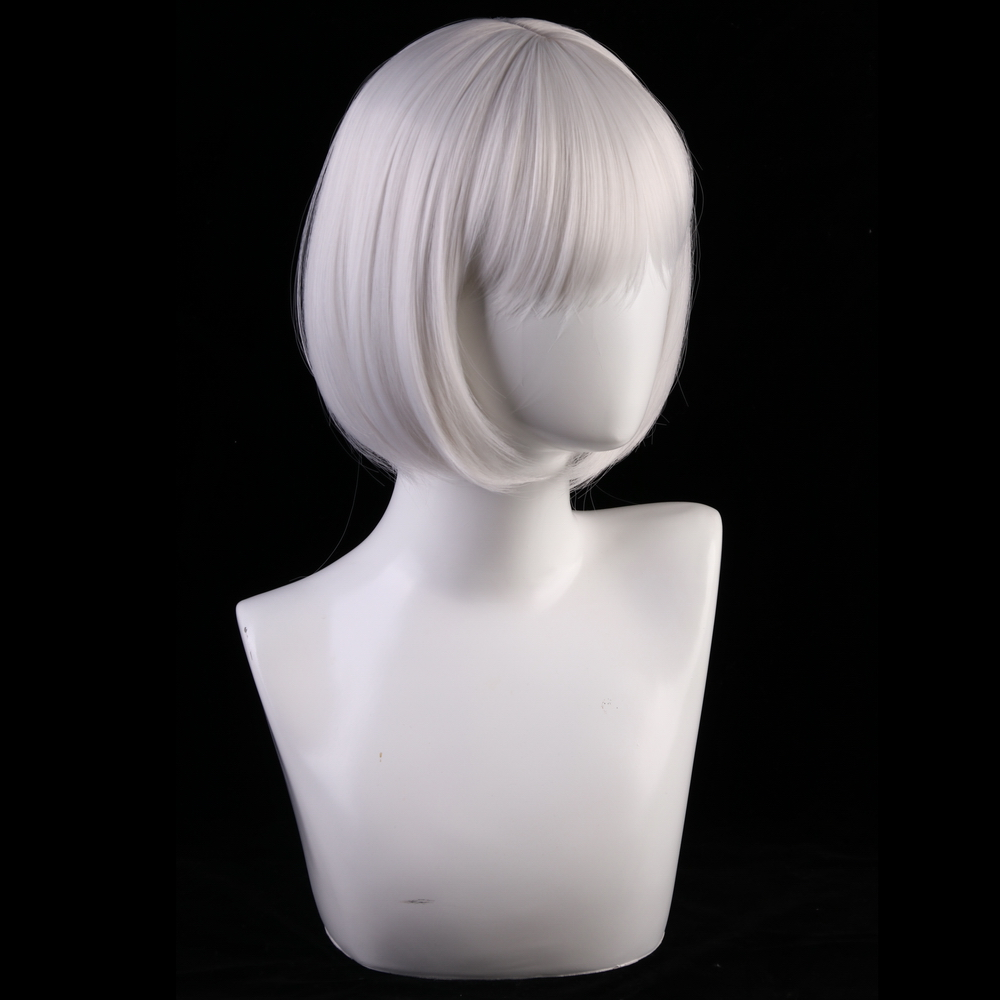 Image 3 - 30cm Azur Lane Cosplay Wig Kaga Women Hair Synthetic Silver Grey Short Bob Wigs Costume Lane Kaga Hairpiece-in Anime Costumes from Novelty & Special Use