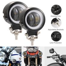 2pcs 40W 8000LM 3 Inch Waterproof Round LED Angel Eyes Light Bar Spot Motorcycle Offroad Car Boat Led Work for