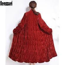 mulheres casacos sheared vison