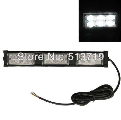 12V 18 LED White Emergency Roof Strobe Light Vehicle Car Truck Flash Lamp Bulb 4 led 12 24v car strobe flash light white red amber light vehicle truck rear side light car emergency warning lamp drop shipping