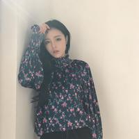Film Spring New South Korea Vintage Lace Flower Long Sleeve Shirt Joker Coat Female