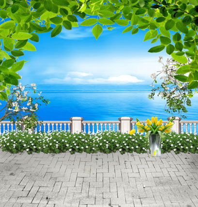 10*6.5feet(300*200CM) outdoor scenic backdrop photo background plant flowers of the sea wedding photography backgrounds new arrival background fundo antique wall flowers 7 feet length with 5 feet width backgrounds lk 2916