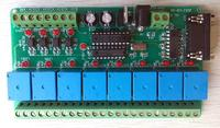 Free Shipping! 1pc IPC board / serial control board / 4 switch / 8 relay / with serial RS232/RS485