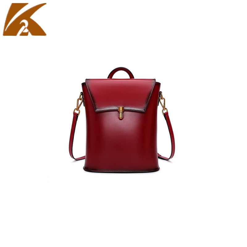 2018 Famous Brands Designer Real Cow Leather Backpack Bag Women Genuine Leather School Shoulder Bags for Teenage Girls Backpacks real leather backpack 100% genuine leather women satchel cow leather patchwork backpacks schoolbag for teenage girls rivet bags