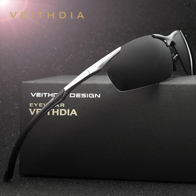 4cf35205a2 VEITHDIA Aluminum Magnesium Men s Polarized Sports Driving Sun Glasses  oculos Male Eyewear Sunglasses For Men 6592 Accessories-in Sunglasses from  Men s ...