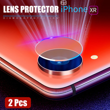 2Pcs/Lot Back Camera Lens Tempered Glass For iPhone X XR XS Max Protector Film 8 7 6 6s Plus