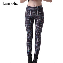 Spring Tenths adventure time punk rock hara u black milk push up fitness sexy 3d print Mystical triangle women leggings sports