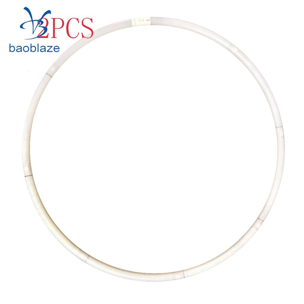 2Pcs Portable 24 LED Light Colorful Flashing Light Up Hula Hoop Fitness Increase for Dance