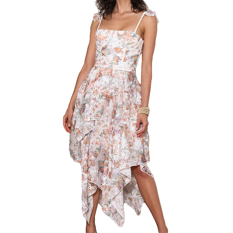 2019 nouvelle arrivée robe à fleurs pour femmes