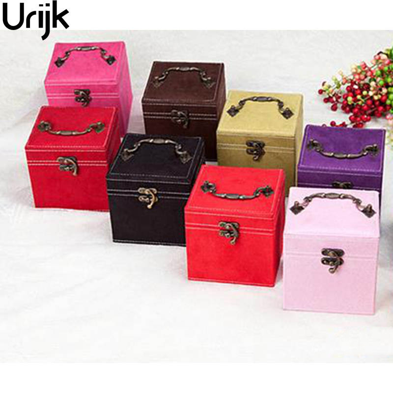Urijk Cloth Jewelry Organizer Storage Boxes Containers For Women European Princess Style Storage Of Cosmetics Container