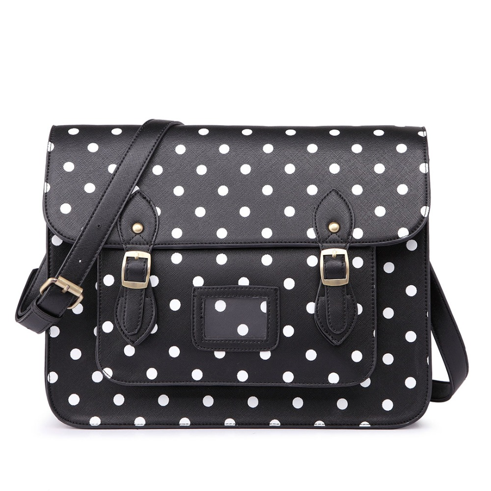 ФОТО 2016 fashion Women man Shoulder Bag Designer Handbags High Quality Messenger Bags School Bags satchels Polka dot Pu Leather