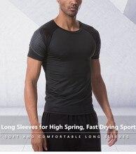 26-в европейском и американском стиле; спортивная мужские кроссовки для марафона Бег одежда быстрая сухая футболка уличная спортивная одежда для бега с короткими рукавами