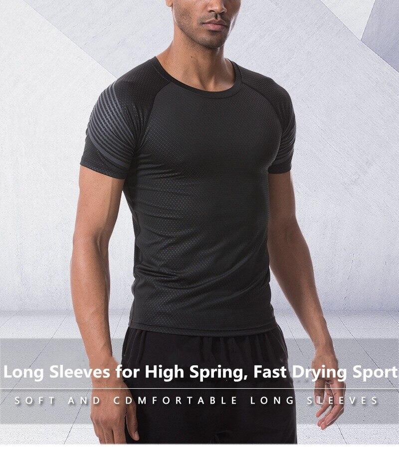 26-vêtements de sport européens et américains vêtements de course Marathon hommes T-shirt à séchage rapide vêtements de course en plein air manches courtes