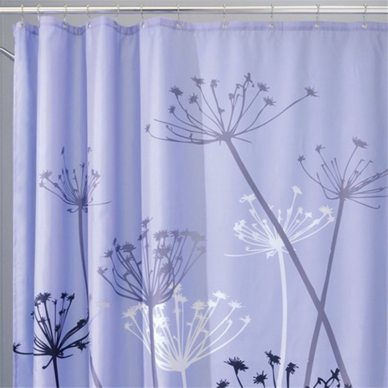 dandelion design bathroom shower curtains great quality polyester fabric beautiful shower curtain with rings