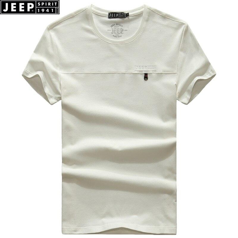 JEEP SPIRIT Zomer Nieuw Heren T-shirt met korte mouwen Effen kleur - Herenkleding