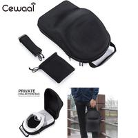 Cewaal For DJI 3D Goggles VR AR Glasses Case Holder Protective Hardshell Box Handbag PU Black