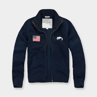 Autumn And Winter Men S Casual Men S Sweatshirts And American Flag Lapel Embroidered With Slim