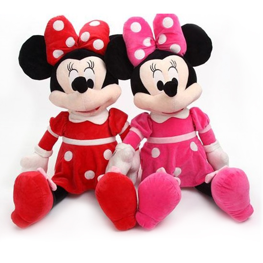 Our large size Minnie Mouse plush toy is sure to offer plenty of cuddly fun for any fan of Minnie. Minnie Mouse is an all time favorite Walt Disney character and is popular with girls that love from the animated children's television series, the Mickey Mouse Clubhouse.