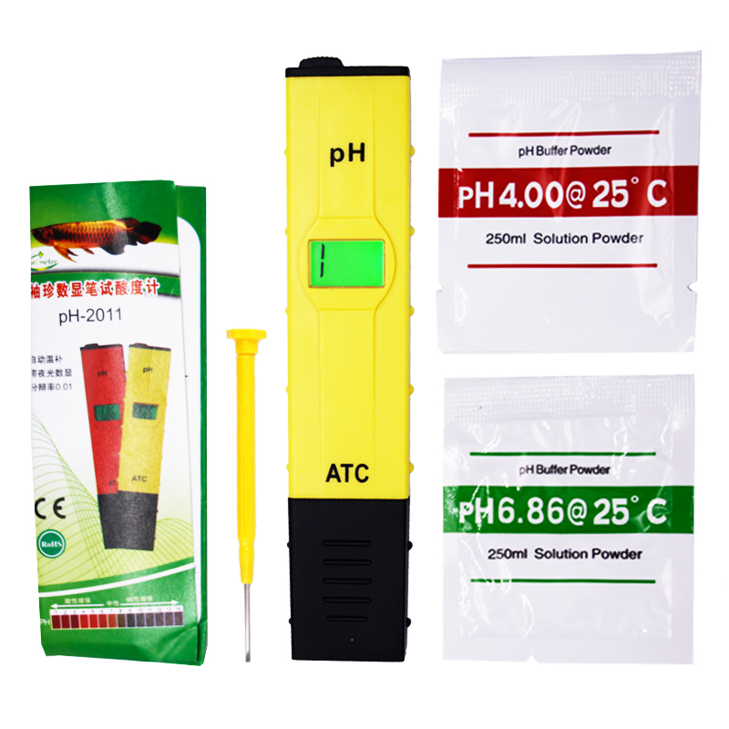 Digital Pocket Pen Type pH Meter Water tester with ATC accuracy 0.01 / backlight / temperature compensation function 15% цена