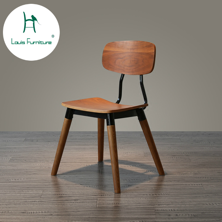 US $220.0 |Louis Fashion Living Room Chairs Creative Neoclassical Post  modern Retro Metal Simple Wooden Head Furniture Leisure Chair-in Living  Room ...