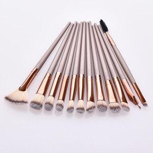 Image 2 - 12Pcs Makeup Brushes Tool Set Cosmetic Powder Eye Shadow Foundation Blush Blending Beauty Make Up Brush Set Maquiagem Drop ship