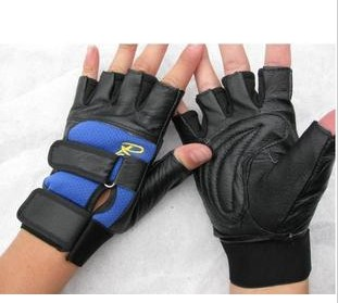 Genuine leather body, semi finger sports gloves, outdoor sports gloves