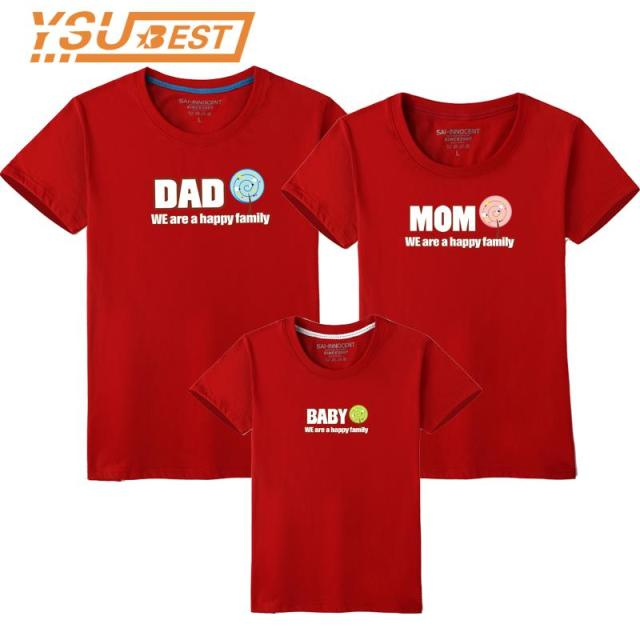 2c9aba14 Summer Family Sets T-Shirt Short Mother Dad Daughter T Shirt Family Look  Matching Outfits