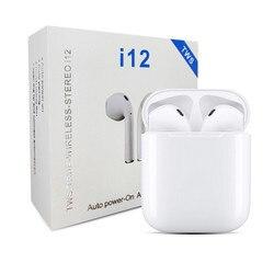 5b3ecd0aa73 Wireless Bluetooth 5.0 i12 Tws Mini EarbudsTouch Control Earphones Headsets  For Iphone Samsung Xiaomi Huawei pk