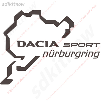 15cm Nurburgring Sports Racing Windows Door Body PVC Decal Car Styling For renault dacia duster logan sandero lodgy accessories image